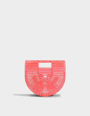 Cult Gaia Acrylic Ark Mini Bag in Watermelon Acrylic