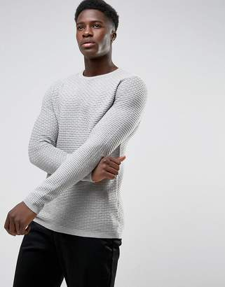 Selected Crew Neck Knit In Texture