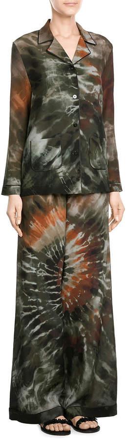 Valentino Silk Tie-Dye Shirt