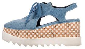 Stella McCartney Denim Platform Sneakers