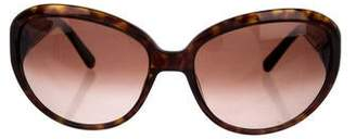 David Yurman Titanium Gold-Plated Tortoiseshell Sunglasses