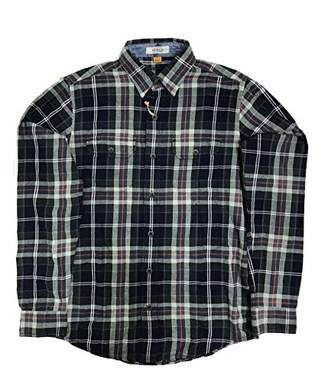 Tailor Vintage Men's Forest Indigo Plaid Shirt