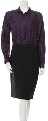 Paul Smith Silk-Blend Sheath Dress w/ Tags $125 thestylecure.com