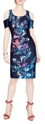 Rachel Roy Cold-Shoulder Scuba Sheath Dress