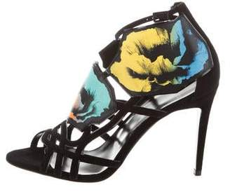 Pierre Hardy Floral Suede Sandals w/ Tags