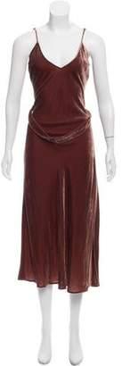 Frame Sleeveless Velvet Dress