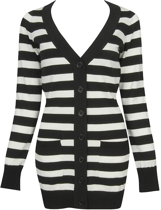 Lena Striped Sweater Cardigan