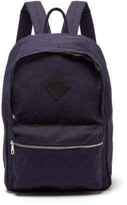 A.P.C. (アー ペー セー) - A.P.C. A.p.c. - Canvas Backpack - Mens - Navy