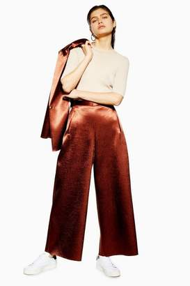 Topshop **MeTallic Awkward Cropped Trousers by Boutique