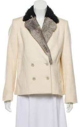 Elizabeth and James Fur Trimmed Wool Jacket