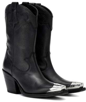 McQ Leather cowboy boots