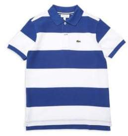 Lacoste Toddler's, Little Boy's& Boy's Bicolor Stripe Pique Polo