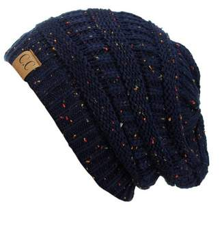 C&C Trendy Warm Chunky Soft Stretch Cable Knit Slouchy Beanie Skully HAT20A