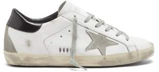 Golden Goose Superstar Leather Trainers - Womens - White Black