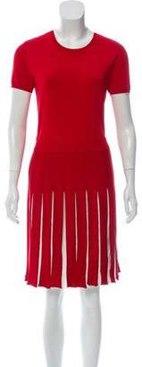 Valentino Pleated Knee-Length Dress
