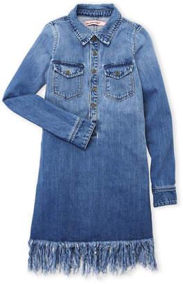 Blank NYC Blanknyc (Girls 7-16) Denim Fringe Shirtdress
