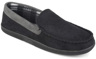Territory Men's Micro Fleece Lined Faux Suede Mocassin Slippers