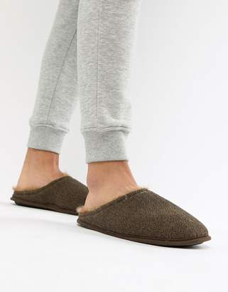 Dunlop Herringbone Slip On Slipper