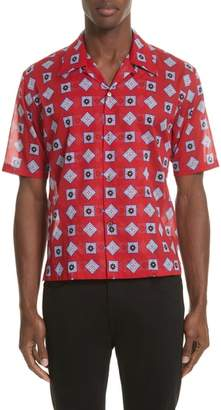 Maison Margiela Muslin Print Camp Shirt