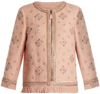Andrew Gn Sequin-embellished linen-blend jacket