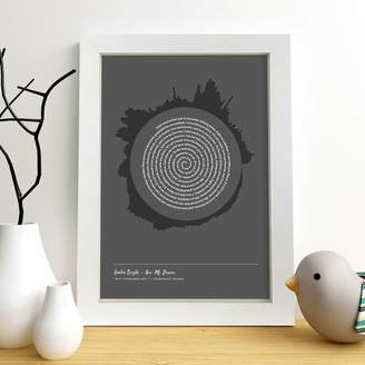 Spin Collective Personalised Radial Song Sound Wave Lyrics Print