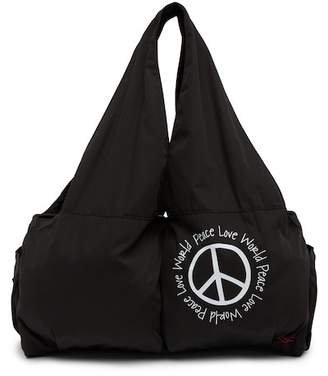 Peace Love World East West Gym Tote Bag