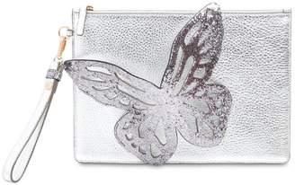 Sophia Webster Flossy Butterfly Metallic Leather Pouch
