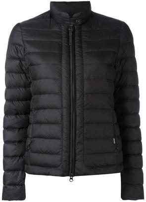 Woolrich banded collar zipped jacket $341.85 thestylecure.com