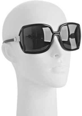 Jimmy Choo black square 'Jackie' oversized sunglasses