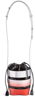 Paco Rabanne Mini Cage Degrade Faux Leather Bucket Bag