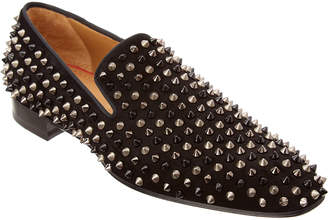Christian Louboutin Dandelion Spikes Suede Loafer