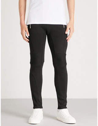 Balmain Slim-fit tapered cotton-jersey jogging bottoms