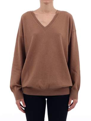 Stella McCartney V-neck Camel Sweater