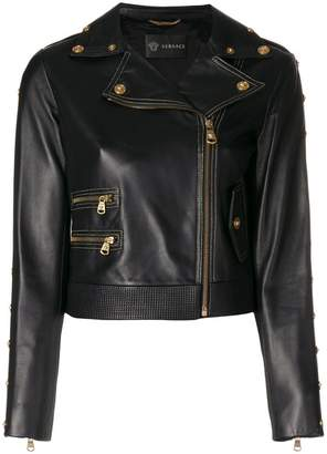 Versace cropped zipped jacket
