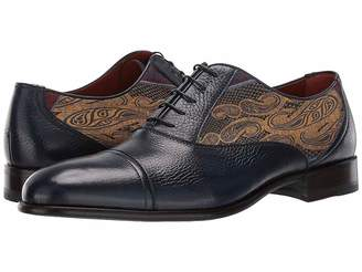 Etro Paisley/Leather Cap Toe Oxford