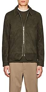 Officine Generale Men's Suede Bomber Jacket - Olive