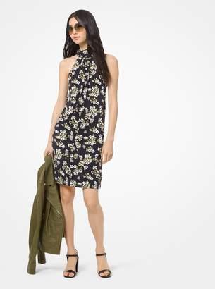 MICHAEL Michael Kors Floral Matte-Jersey Halter Dress