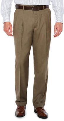 STAFFORD Stafford Sharkskin Stretch Pleated Pants Classic Fit