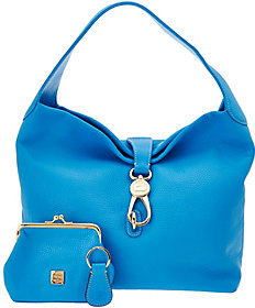 Dooney & Bourke Leather Hobo with Logo Lock and Accessories $229 thestylecure.com