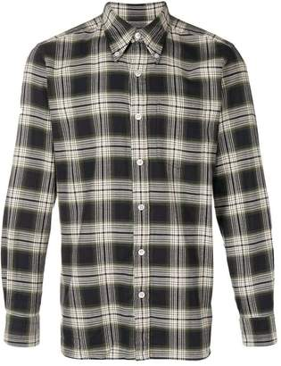 Tom Ford overcheck button-down slim-fit shirt