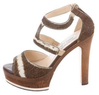 778d3304ec28 Jimmy Choo Brown Block Heel Women s Sandals - ShopStyle
