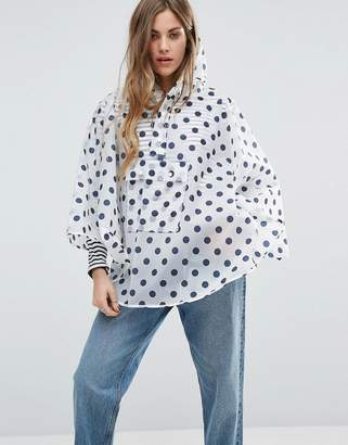 Rock & Religion Polka Dot Printed Poncho Pac-A-Trench $19 thestylecure.com
