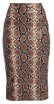 Commando Women's Leopard Print Faux-Leather Midi Skirt