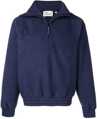 Drôle De Monsieur funnel-neck zipped sweatshirt