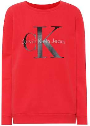 Calvin Klein Jeans Printed cotton jersey sweater