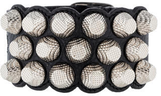 Balenciaga  Balenciaga Giant 12 Triple-Row Leather Bracelet