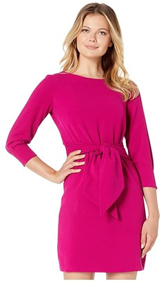 Vince Camuto Crepe Long Sleeve Dress with Waist Tie