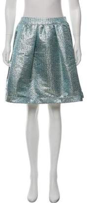 Burberry Brocade A-Line Skirt w/ Tags