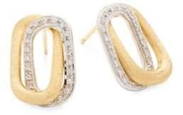 Marco Bicego Murano 18K Yellow & White Gold Diamond Earrings