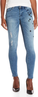 Nanette Lepore Nanette Nolita Embroidered Star Skinny Jeans